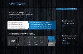 LoremPixum: genera imágenes rápido y fácil para web