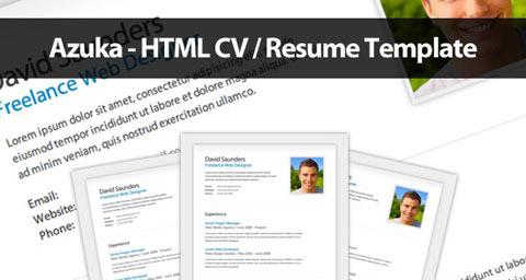 Azuka es una plantilla html para tu Currículum