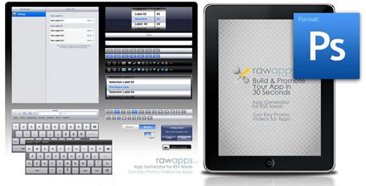 Recursos PSD de iPad