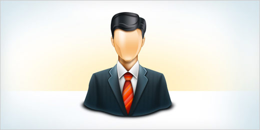 Icono PNG y PSD de un Business Man
