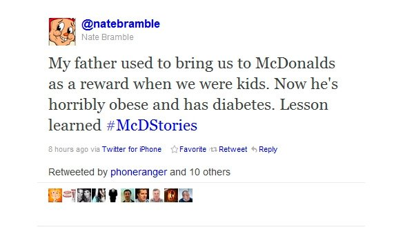 Twitter McDonalds: #McDStories