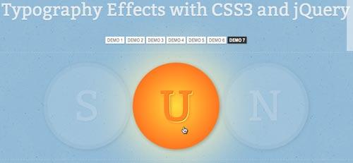 Efectos tipografía en CSS3 y jQuery