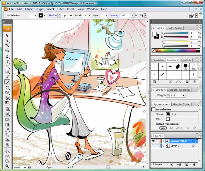 Cumpleaños de Adobe Illustrator