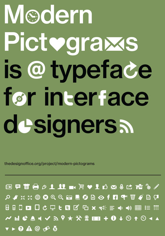 Pictogramas Modernos para Diseñadores