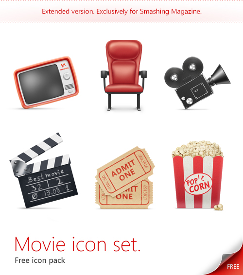 Set iconos de cine