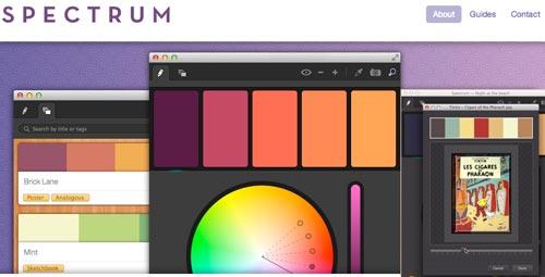 Una aplicación para los esquemas de color