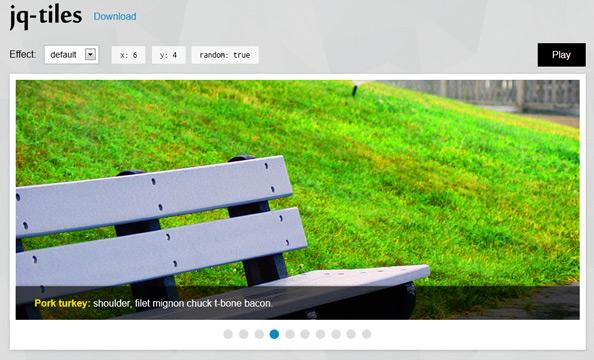jq-tiles, slideshows en jQuery con CSS3