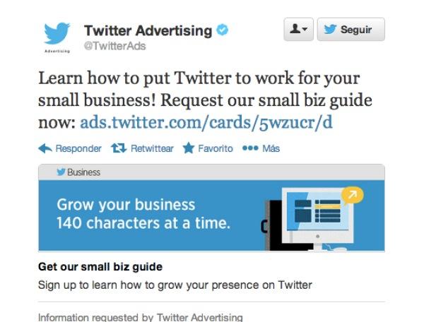 La publicidad insertada en tweets de Twitter