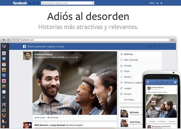 Ya podemos disfrutar del nuevo diseño de Facebook
