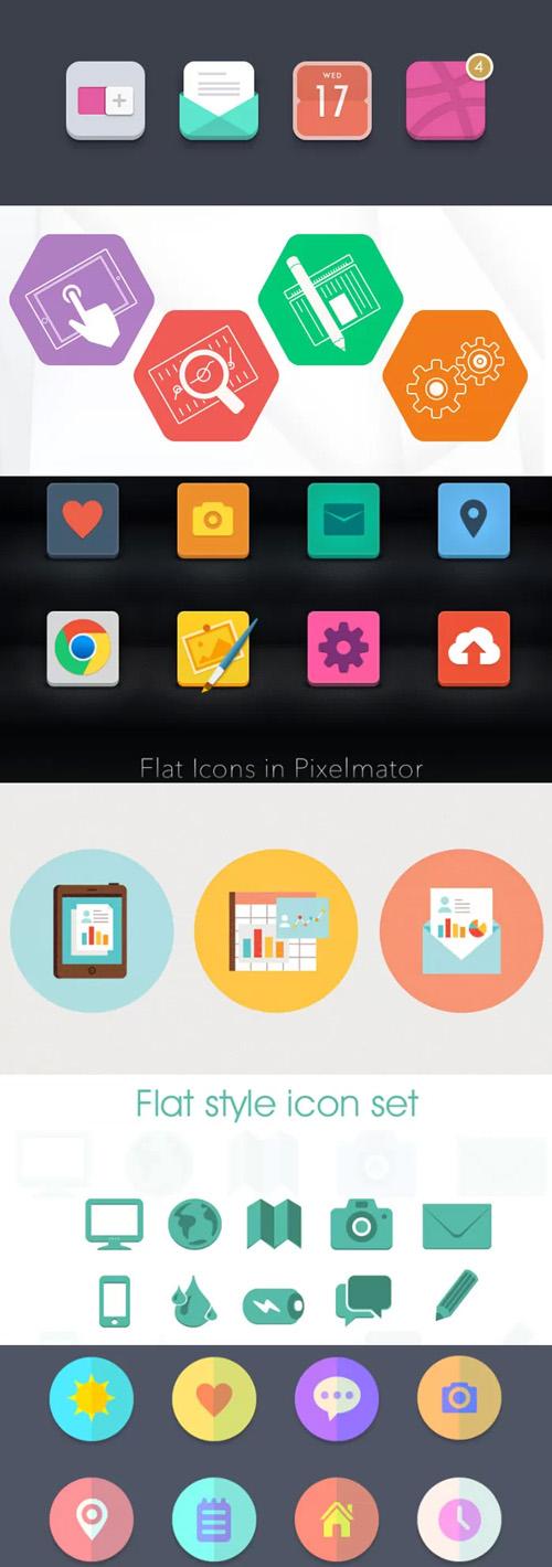 Elementos Vectores de UI muy coloridos