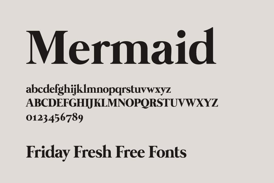 Fuentes gratis: Mermaid, Sanitechtro, Castamere Sans…