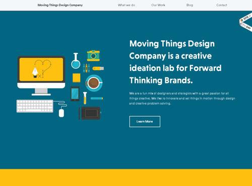 Inspiración dseño web minimalista
