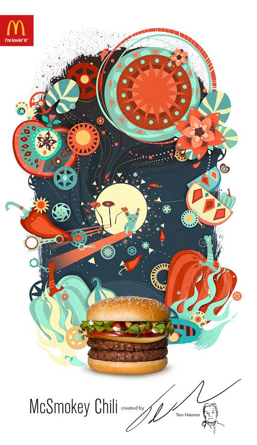 Arte y publicidad en una original campaña de hamburguesas