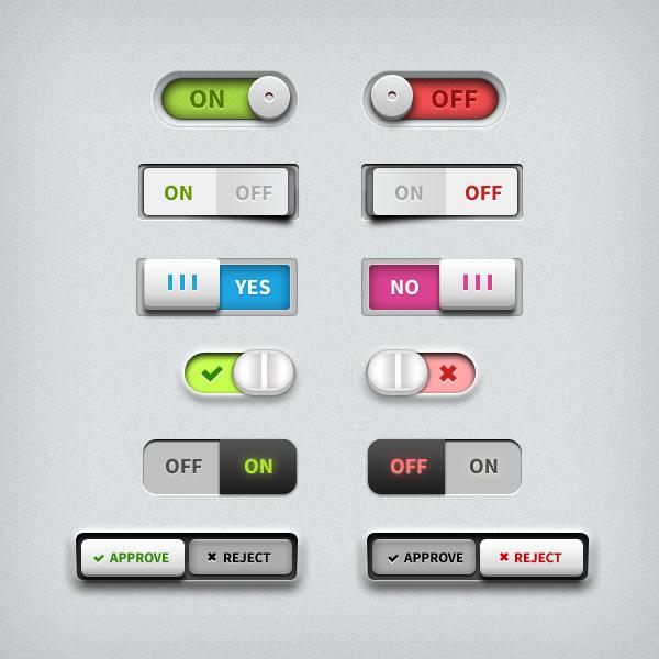 Elementos UI Toggle Switches