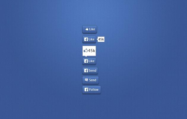 600 botones de Facebook en formato vector