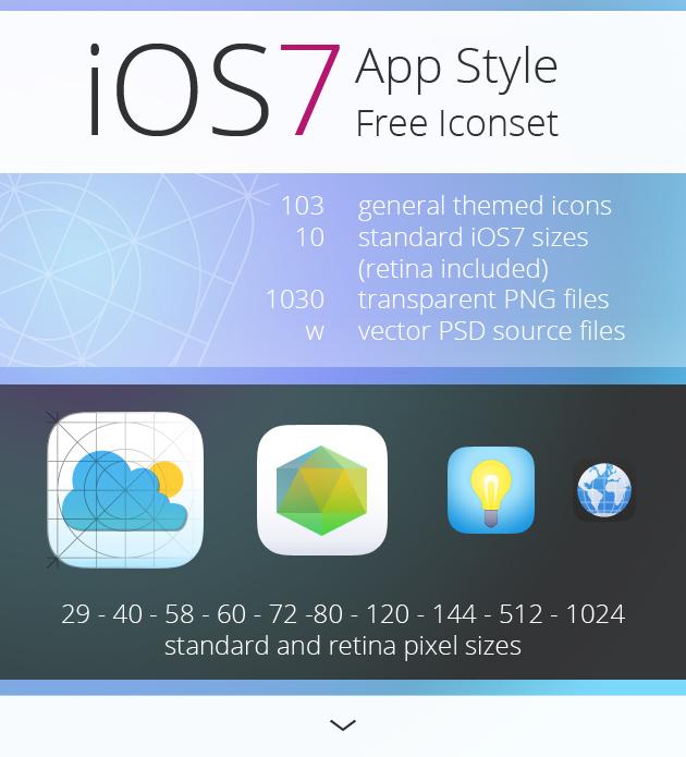 Iconos estilo App iOS 7