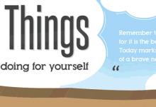 Infografía: 30 cosas que debes empezar a hacer por ti mismo