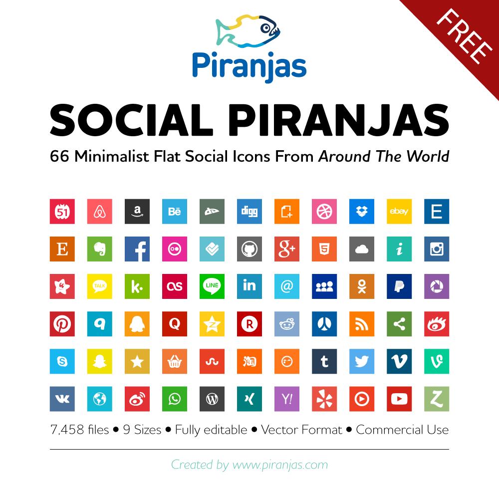 Piranjas, el gran set de iconos sociales