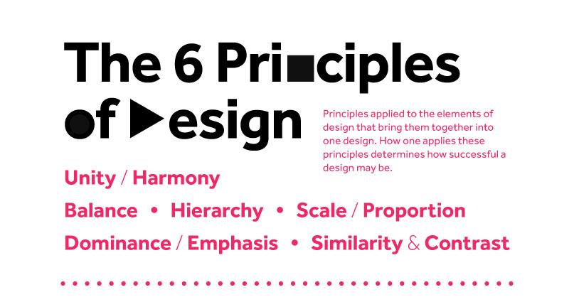 #infografía: Los seis principios del diseño