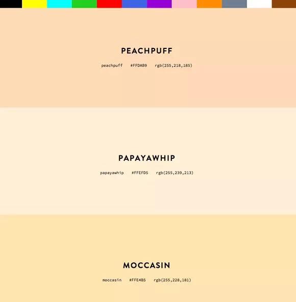 Colores CSS por nombre – Colours