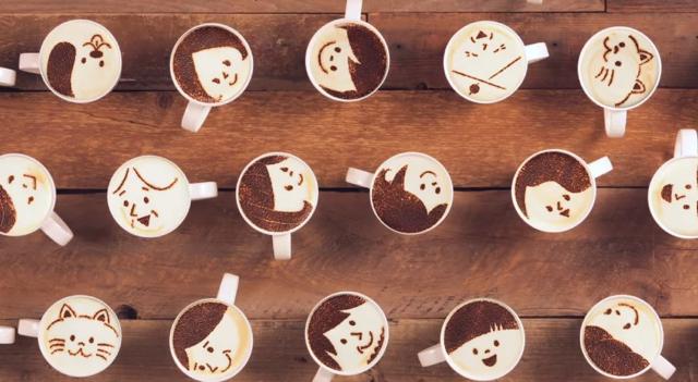 Maxim Stick, anuncio del café con 1.000 tazas