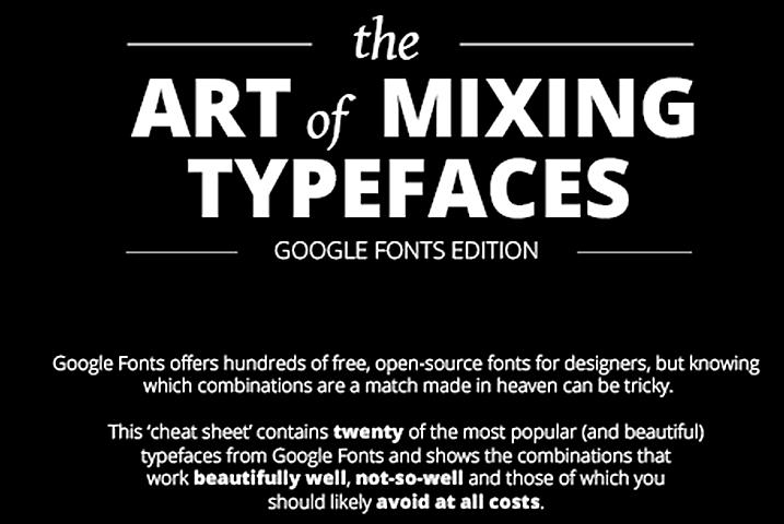 El arte de combinar tipografías, edición Google Fonts