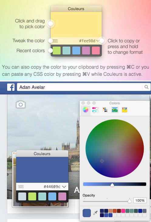 CouleursApp – los colores de cualquier lugar en la pantalla