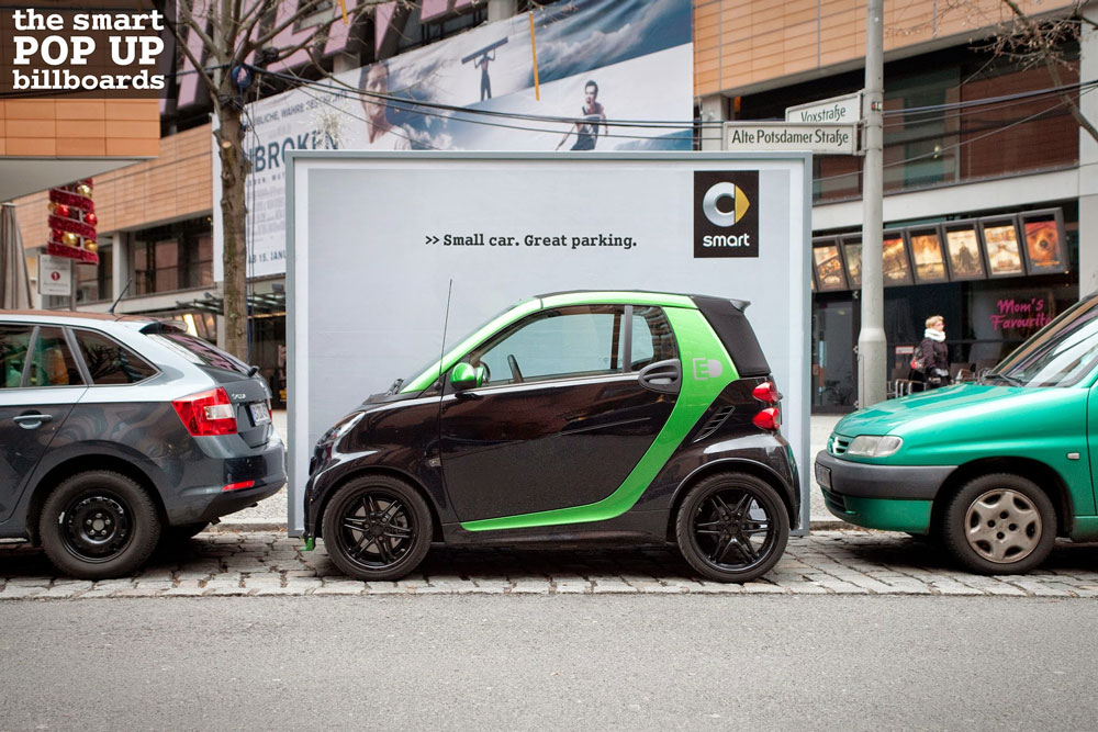 "Anuncios ""pop up"" móviles para el auto Smart"