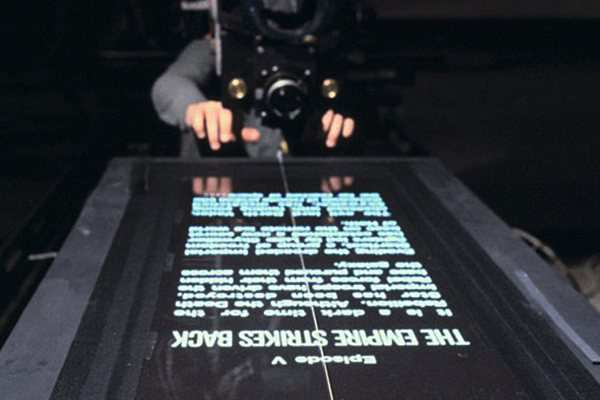 Así se grabaron los títulos en las primeras películas de Star Wars