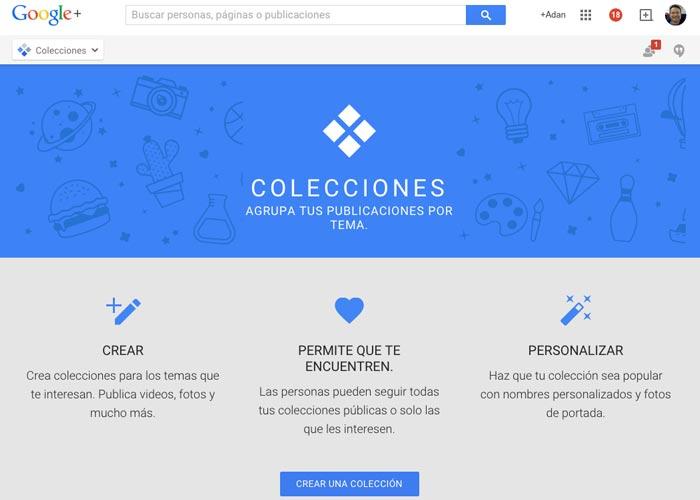 """Google+ presenta """"Colecciones"""" – similar a Pinterest"""