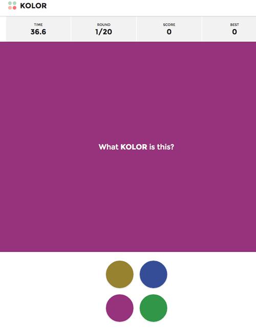 ¿Qué KOLOR es este? – Descubre si sabes ver bien los colores