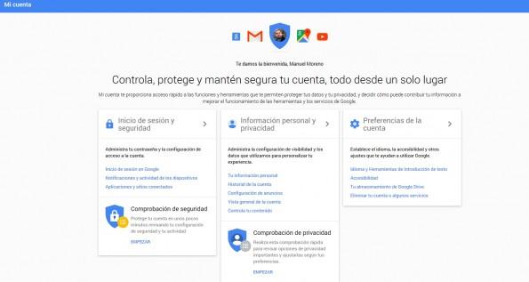 Un espacio para controlar todo lo que Google sabe de ti