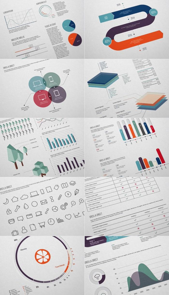 Pack Recursos gratuitos para hacer infografías