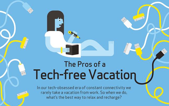 Disfruta de unas vacaciones lejos de la tecnología