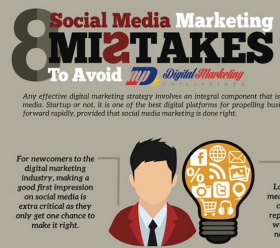 infografía: 8 errores de redes sociales que debes evitar