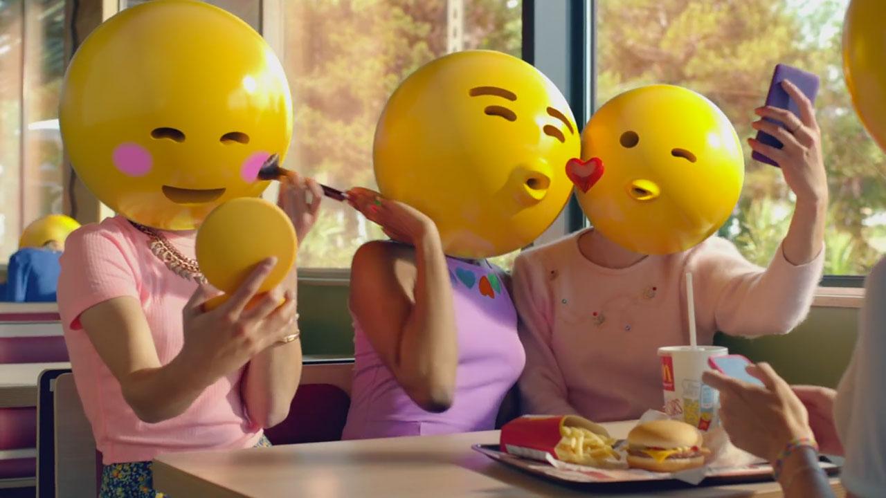 Un spot de McDonald's protagonizado por emojis