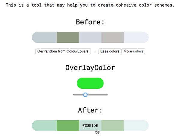 Cohesive Colors - una tabla para crear colores en HTML