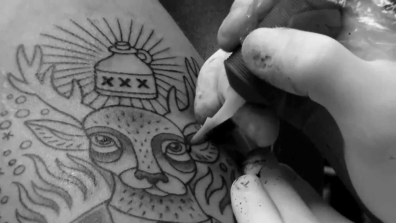 Jägermeister y un corto de animación hecho con tatuajes