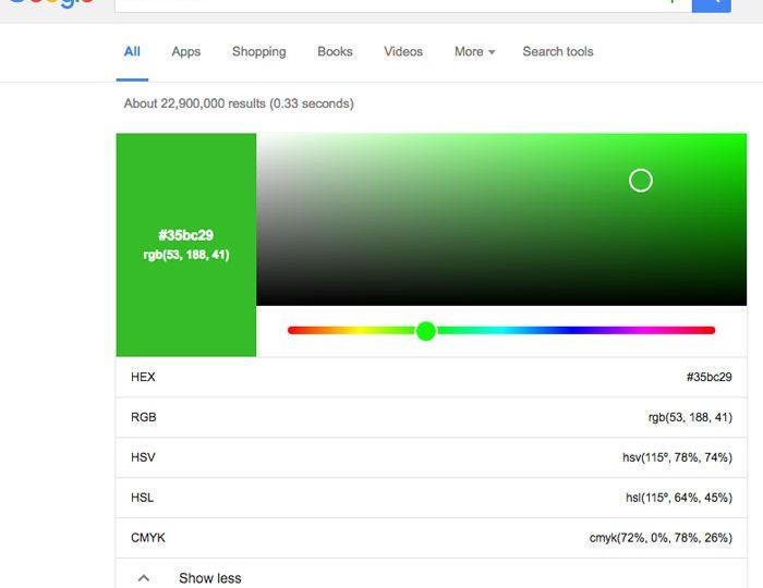 RGB to Hex y encuentra cualquier color desde Google