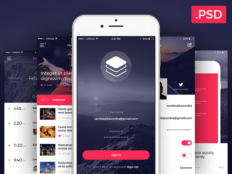 Mobile App UI KIT