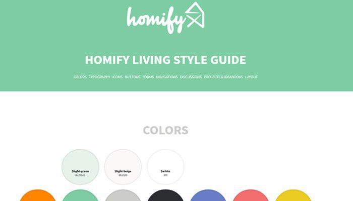 Homify Guía de Estilo