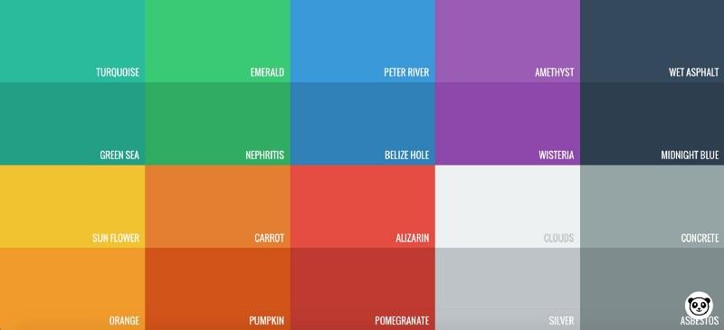 Diseño Flat - Colores vibrantes