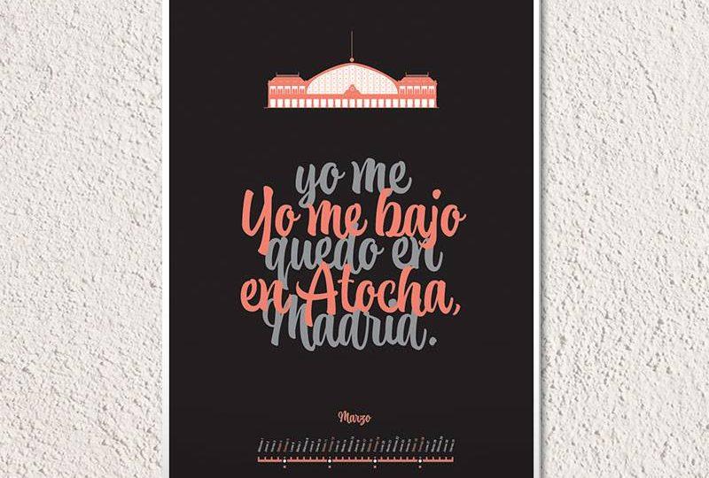 """Un calendario con tipografías """"made in Spain"""""""