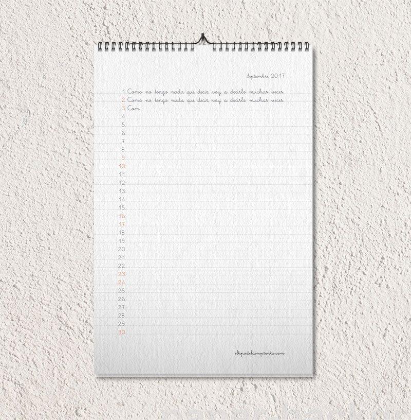 El tipo de la Imprenta - Calendario 2017