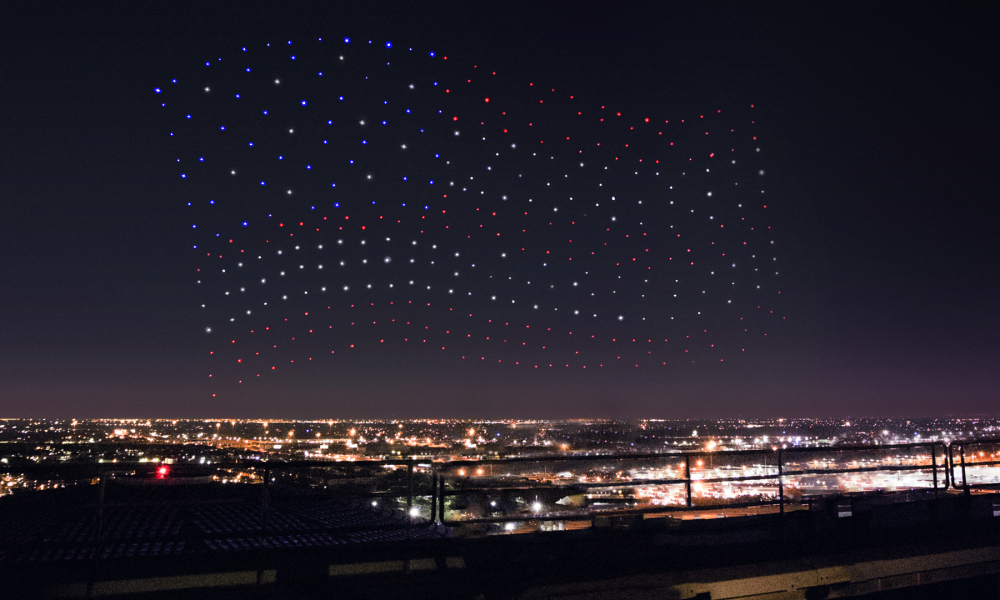 300 drones de Intel en el show de Lady Gaga