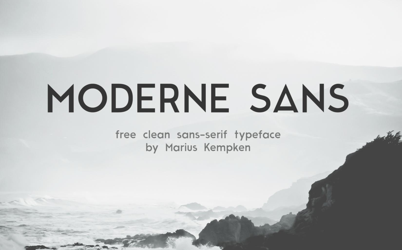 Moderne Sans - Fuentes tipográficas
