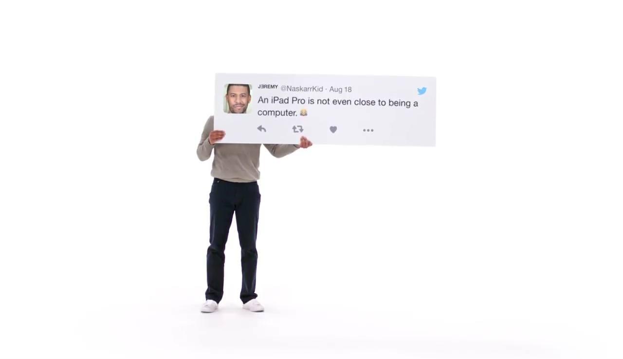 Apple utiliza tweets para promocionar su nuevo iPad Pro