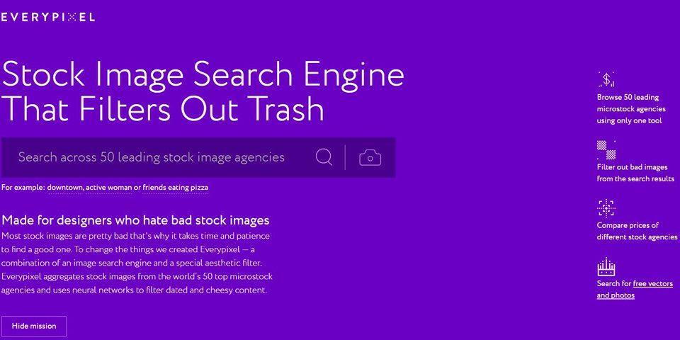 'Everypixel' el buscador de imágenes que estabas buscando