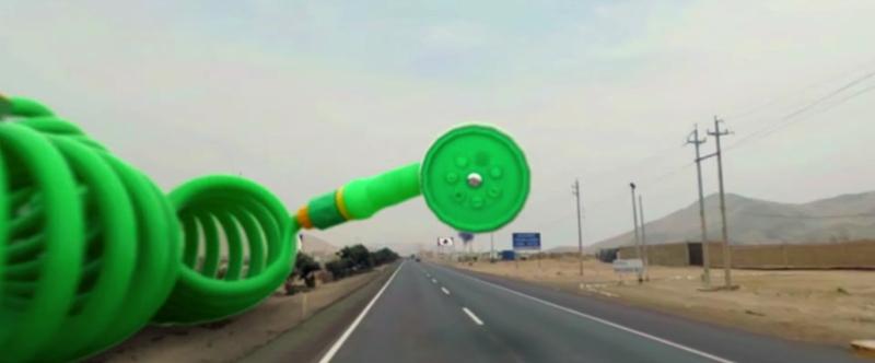 Una carretera convertida en una experiencia de realidad virtual increíble