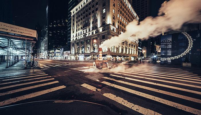 Las calles de Nueva York completamente vacías